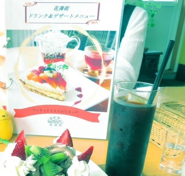 20190706cafeレストラン花薄荷ドリンク デザートメニュー2.JPG
